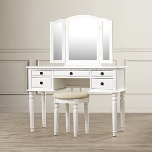 desk vanity mirror with lights. GoodHope Vanity Set with Mirror Makeup Tables and Vanities You ll Love  Wayfair