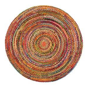 Handgefertigter Teppich Coleman in Lila/Gelb/Rosa