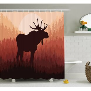 Cervantes Moose Antlers Shower Curtain