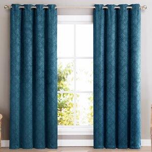 Redmont Geometric Blackout Thermal Grommet Curtain Panels (Set of 2)