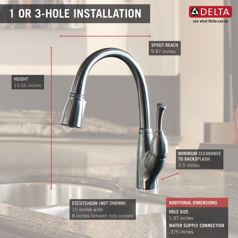 Allora Pull Down Touch Single Handle Kitchen Faucet With Magnae Docking And Diamond Seal