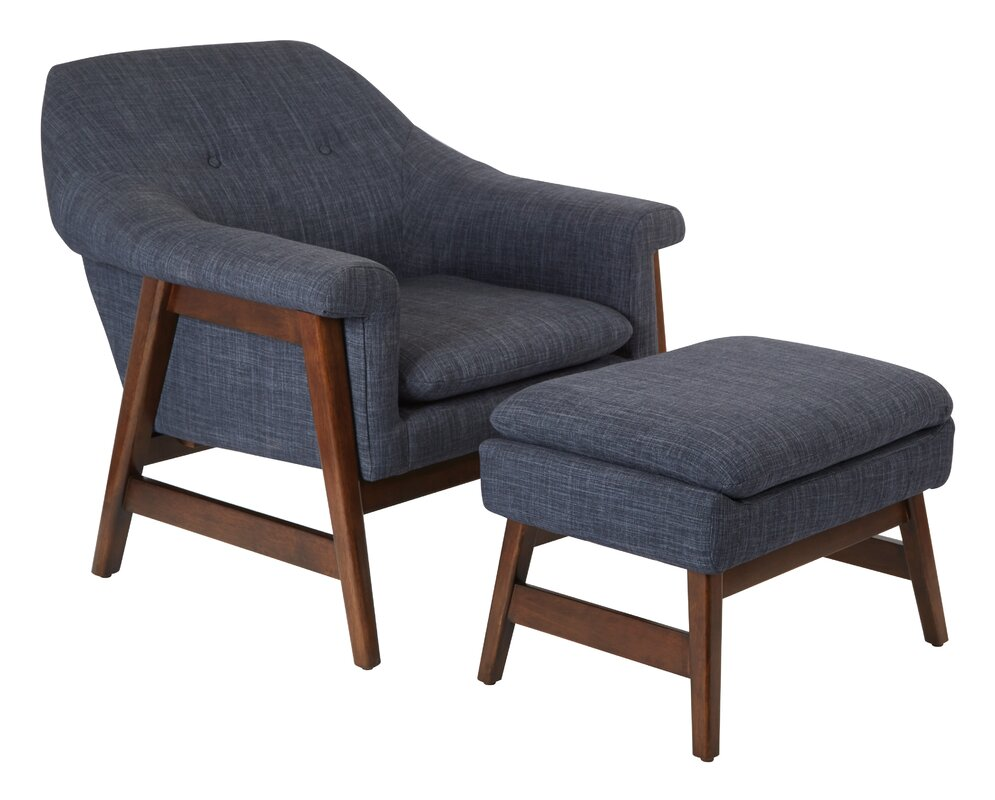 Ave Six Flynton Lounge Chair And Ottoman & Reviews
