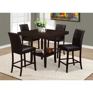 Williamsburg 5 Piece Dining Set by Red Barrel St..