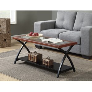 Winston Porter Jeannine Coffee Table with Magazine Rack Image