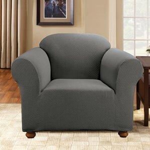 Simple Stretch Subway Armchair SlipcoverSure Fit   Wayfair. Gray Armchair Slipcover. Home Design Ideas