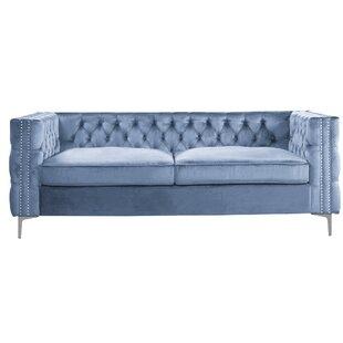 Attirant Navy Blue Chesterfield Sofa | Wayfair.co.uk