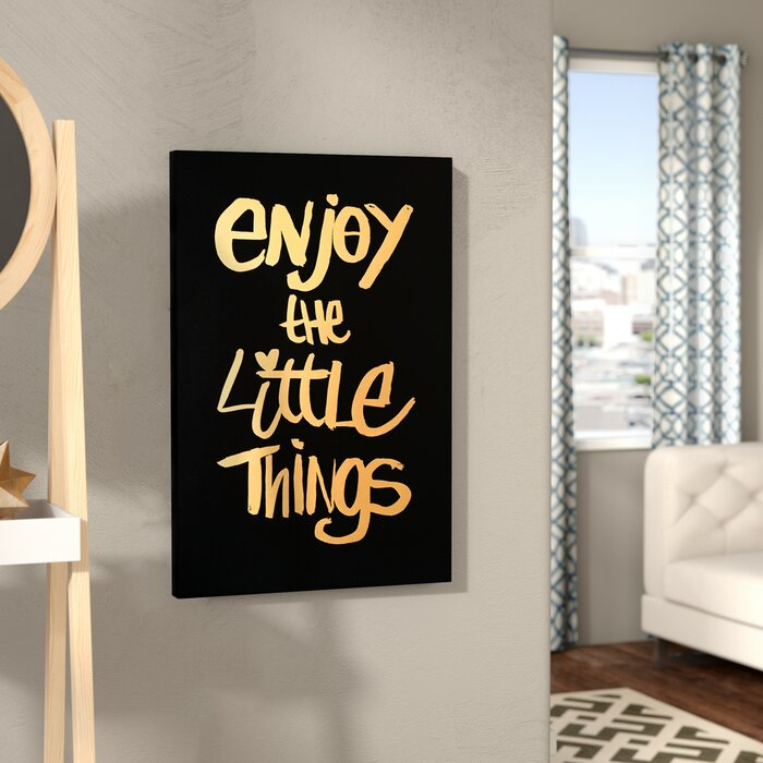 Mercury Row Enjoy It All Textual Art On Wrapped Canvas Reviews