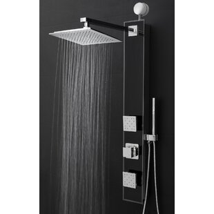 Temperature Control Rain Shower Head Shower Panel   Includes Rough In Valve