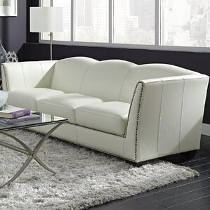 Marilyn Leather Sofa by Lazzaro Leather