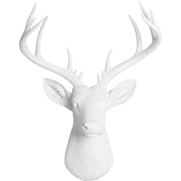 Deer Head Wall Decor gracie oaks faux deer head wall décor & reviews | wayfair