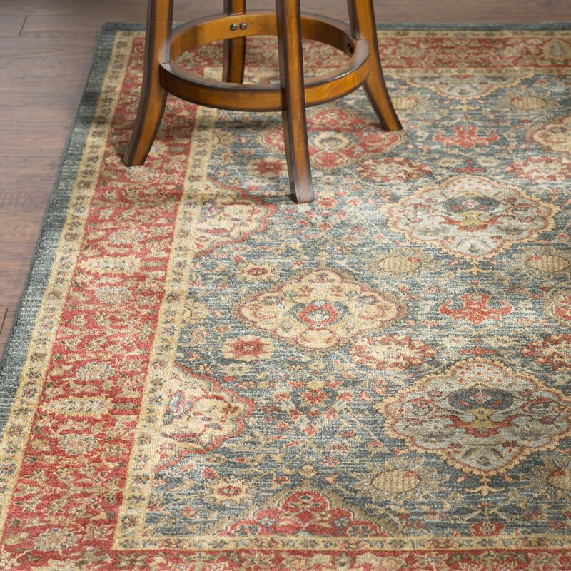 Goodridge red blue area rug reviews joss main for Red and blue area rug