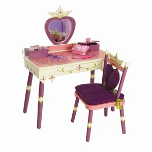 Elegant Princess Vanity Set With Mirror