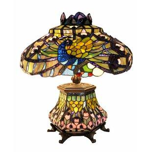 Electric lantern table lamps wayfair peacock lantern 23 table lamp aloadofball Images