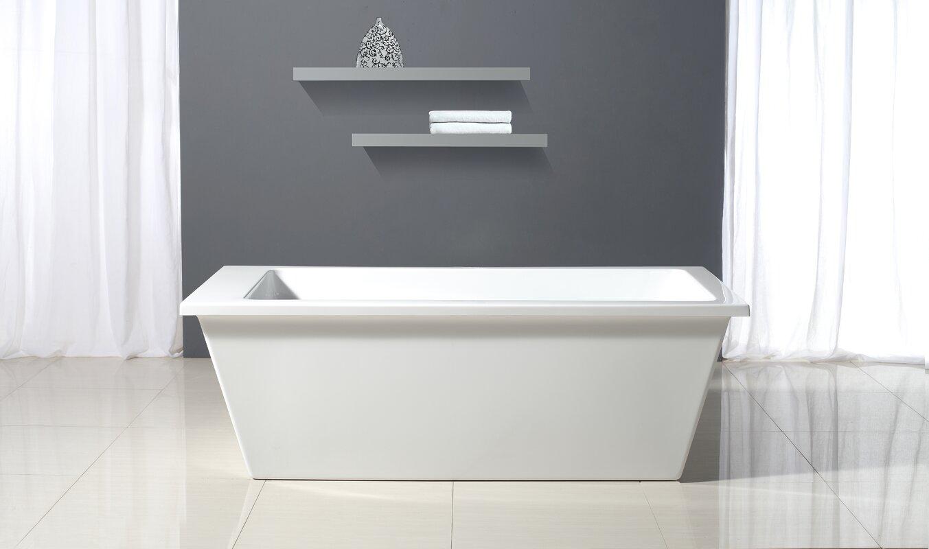 "Bathroom Fixtures Houston ove decors houston 69"" x 31"" bathtub & reviews | wayfair"