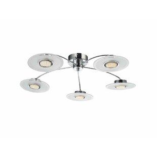 Central 5 Light Semi-Flush Ceiling Light by TP24