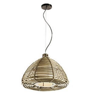 Ferncliff 1-Light Dome Pendant by Bay Isle Home