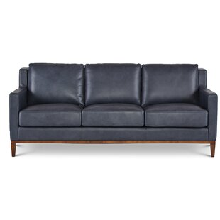 Navy Leather Sofa Mesmerizing Navy Leather Sofa With Br