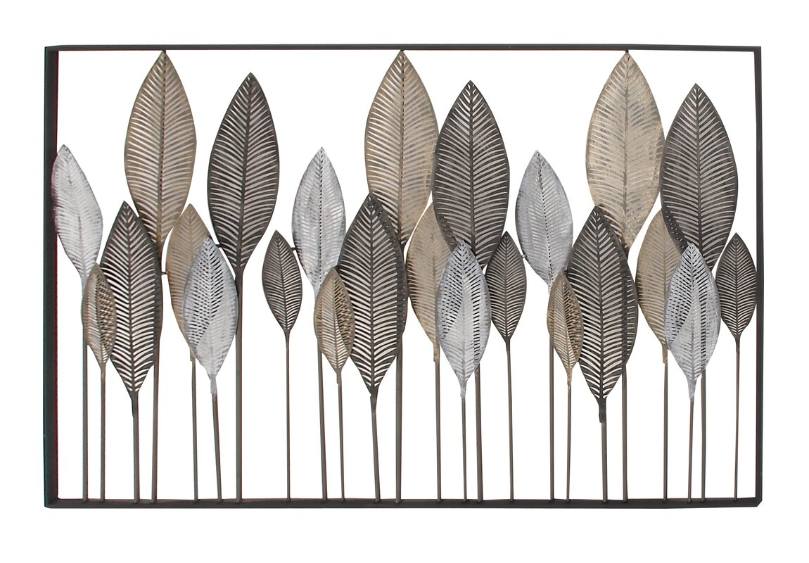 Beau Metal Leaf Wall Décor
