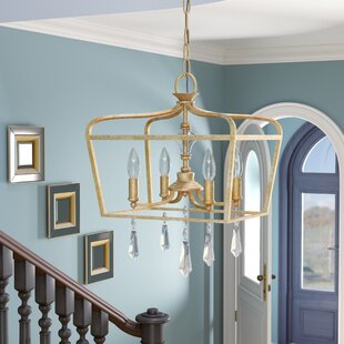 Fealty Traditional 4-Light Foyer Pendant & Entryway u0026 Foyer Lighting Youu0027ll Love | Wayfair