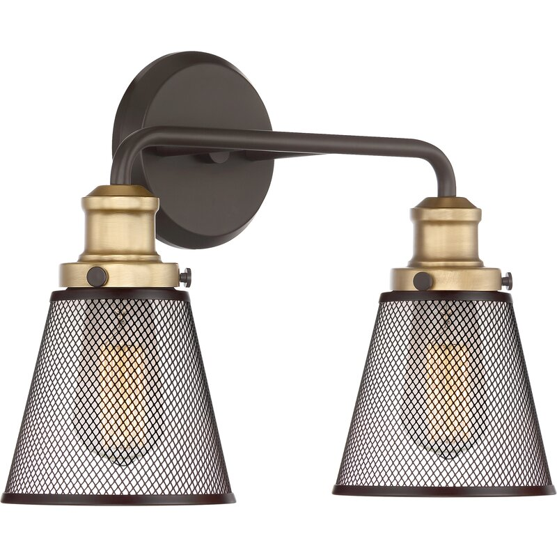 Williston Forge Dillingham 2-Light Vanity Light