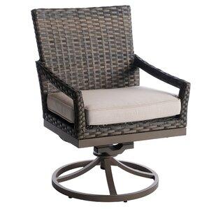 Eibhlin Swivel Patio Dining Chair With Cushion (Set Of 2)