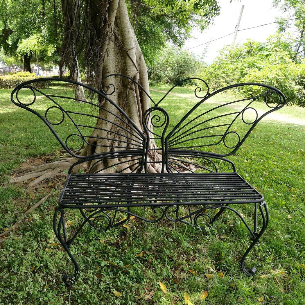 Hi Line Gift Ltd Butterfly Metal Garden Bench Amp Reviews