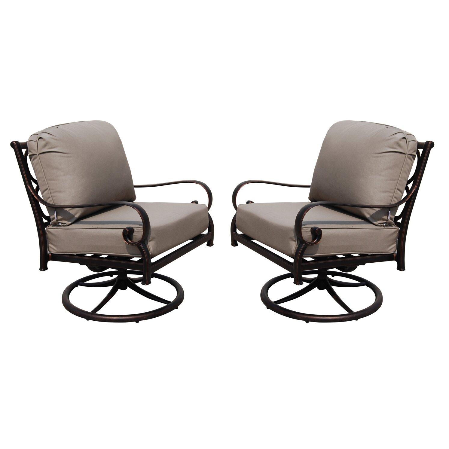 PatioFlare Deep Seating Swivel Rocking Chair with Cushion  Wayfair.ca