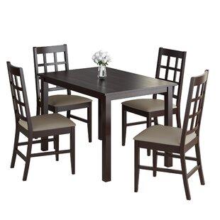 Cumberbatch 5 Piece Solid Wood Dining Set
