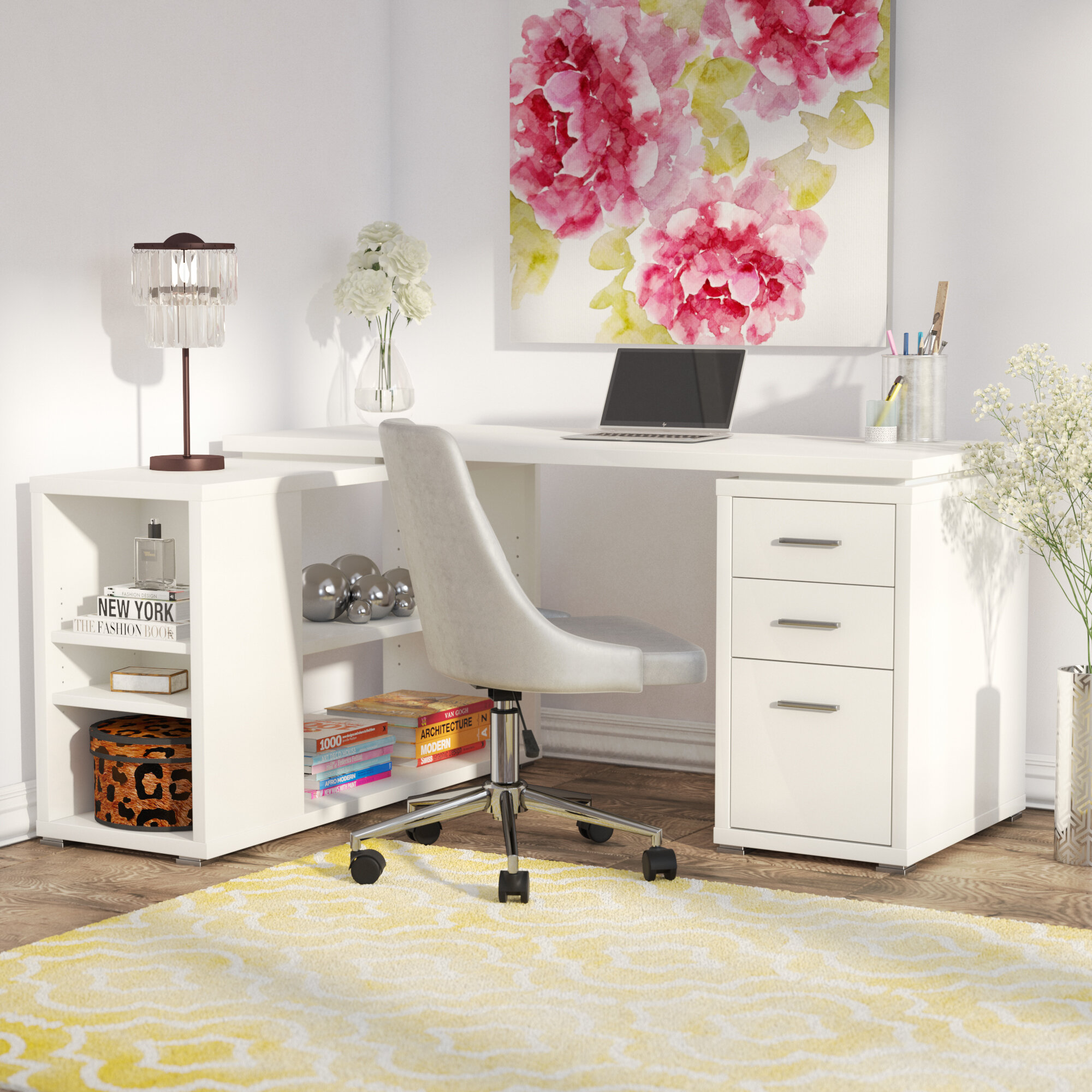 Willa Arlo Interiors Drewes L Shaped Computer Desk