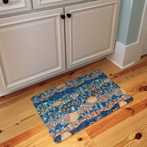 Coastal Shell Mosaic Floor Mat