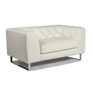 Faya Leather Loveseat by Orren Ellis