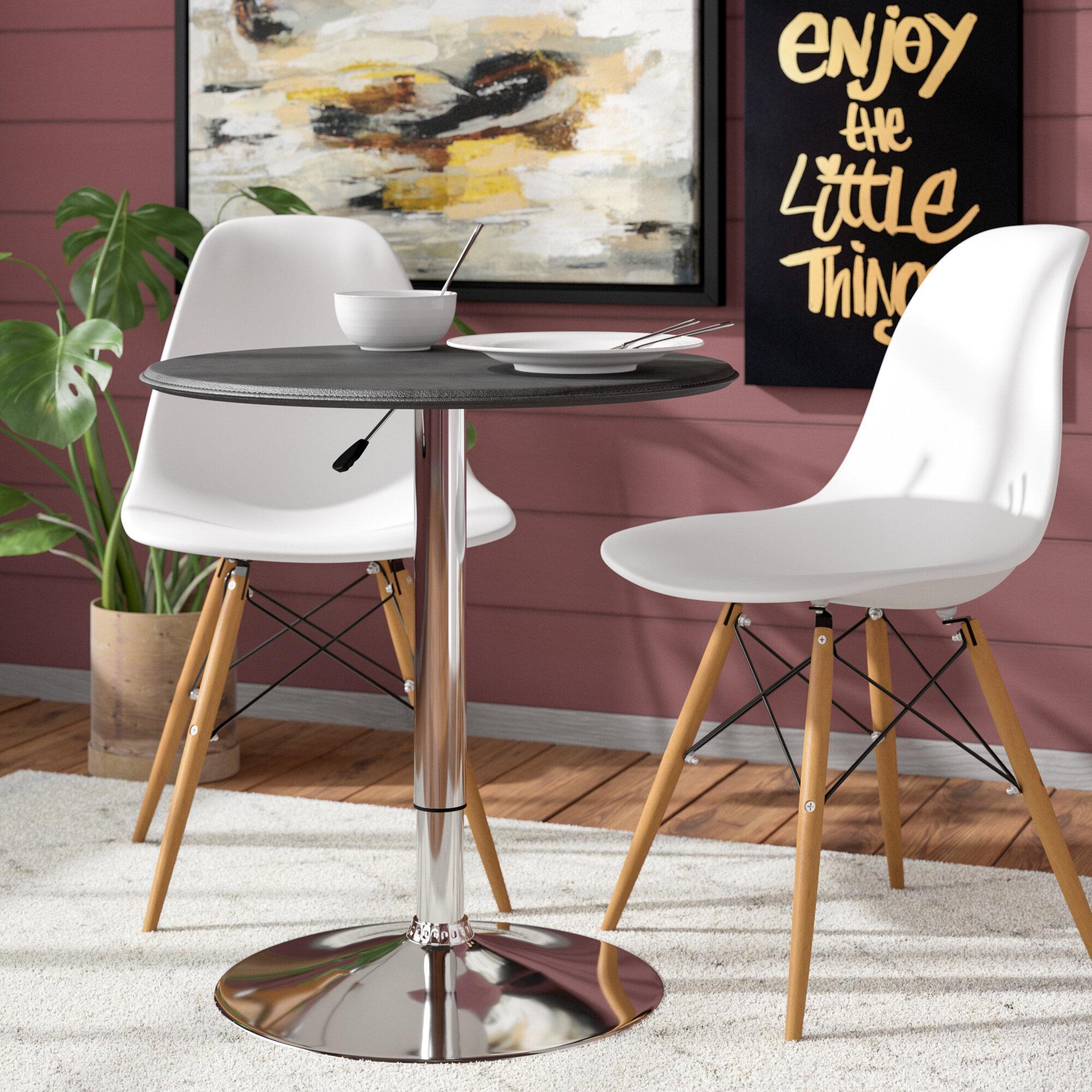 Mercury Row Carmody Modern Adjustable Height Pub Table Reviews - Adjustable height cafe table