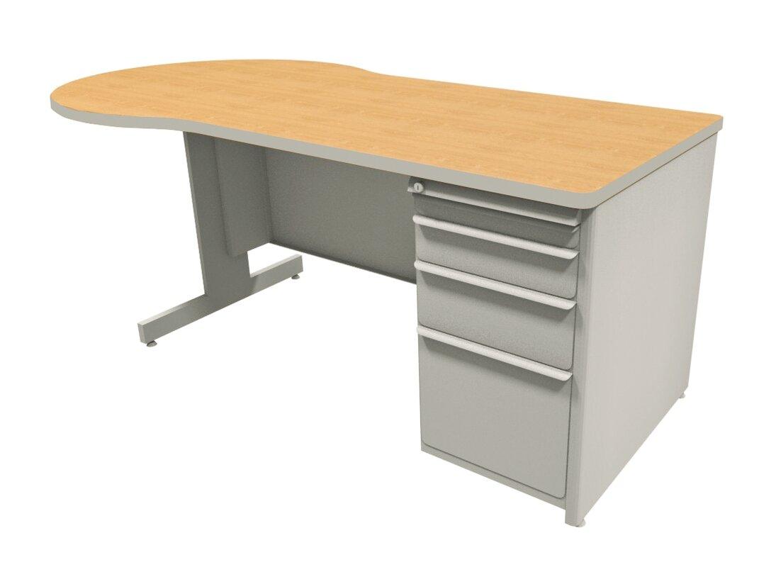 Marvel Office Furniture Zapf Peninsula Computer Desk
