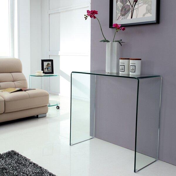 Hokku Designs Bent Glass Console Table Amp Reviews Wayfair Co Uk