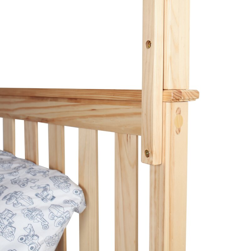 Solid Wood Bunk Bed With Under Storage Drawer