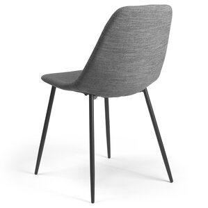 Lafayette Side Chair in Fabric - Gray (Se..