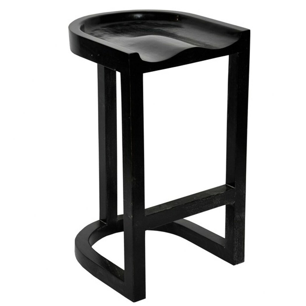 Noir Saddle 32 Bar Stool Wayfair