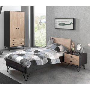 3-tlg. Schlafzimmer-Set William, 90 x 200 cm vo..