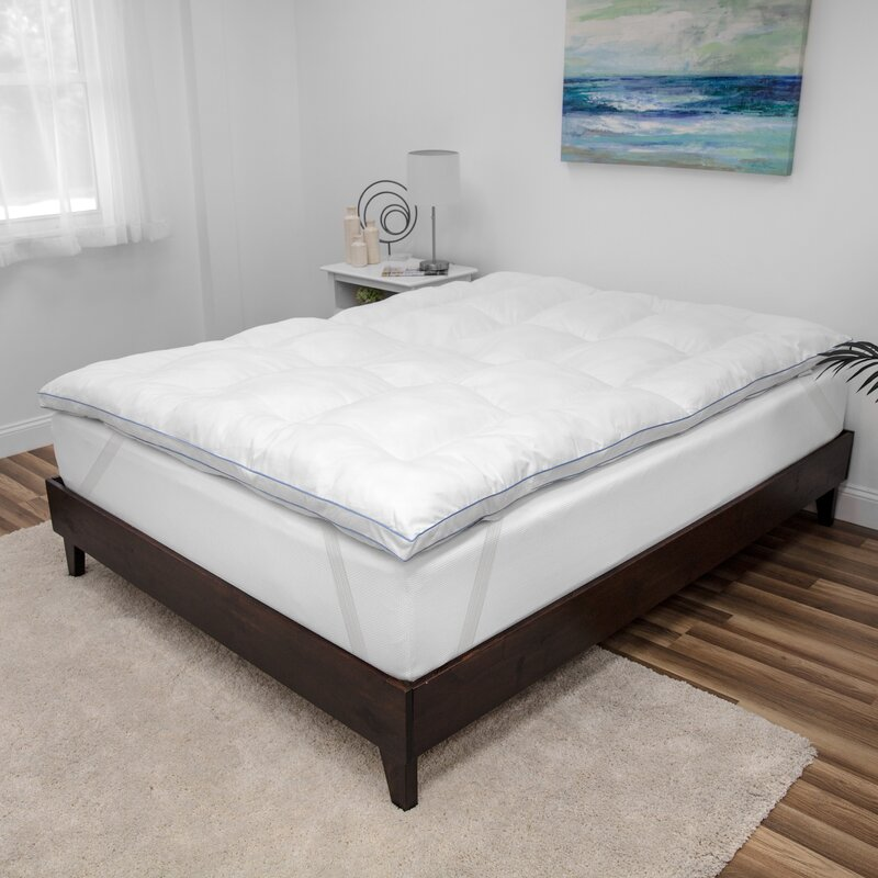 Memory Foam Mattress Topper.Brinkley Deluxe 3 Fiberfill And Memory Foam Mattress Topper