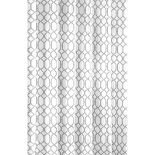Shoreline Trellis Cotton Single Shower Curtain