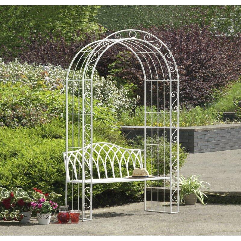 Abbas Cast Iron Arch Garden Bench