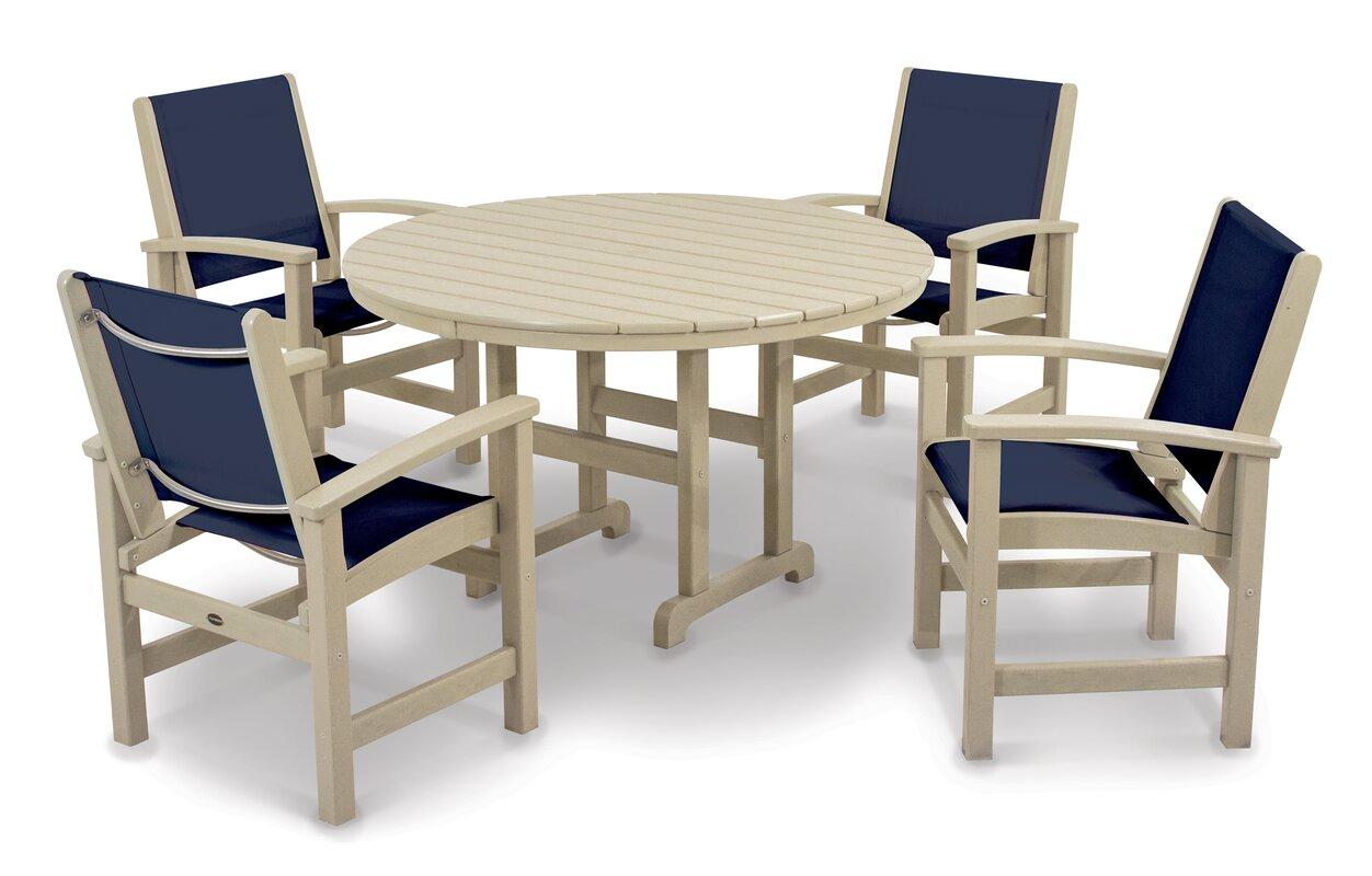 POLYWOOD® Coastal Patio Dining Chair & Reviews