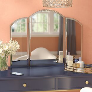 Emerita Arch/Crowned top Accent Wall Mirror & Wall Crown Canopy | Wayfair