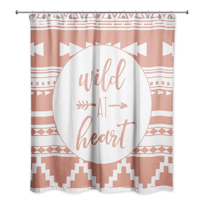 Crissyfield Wild At Heart Tribal Print Shower Curtain
