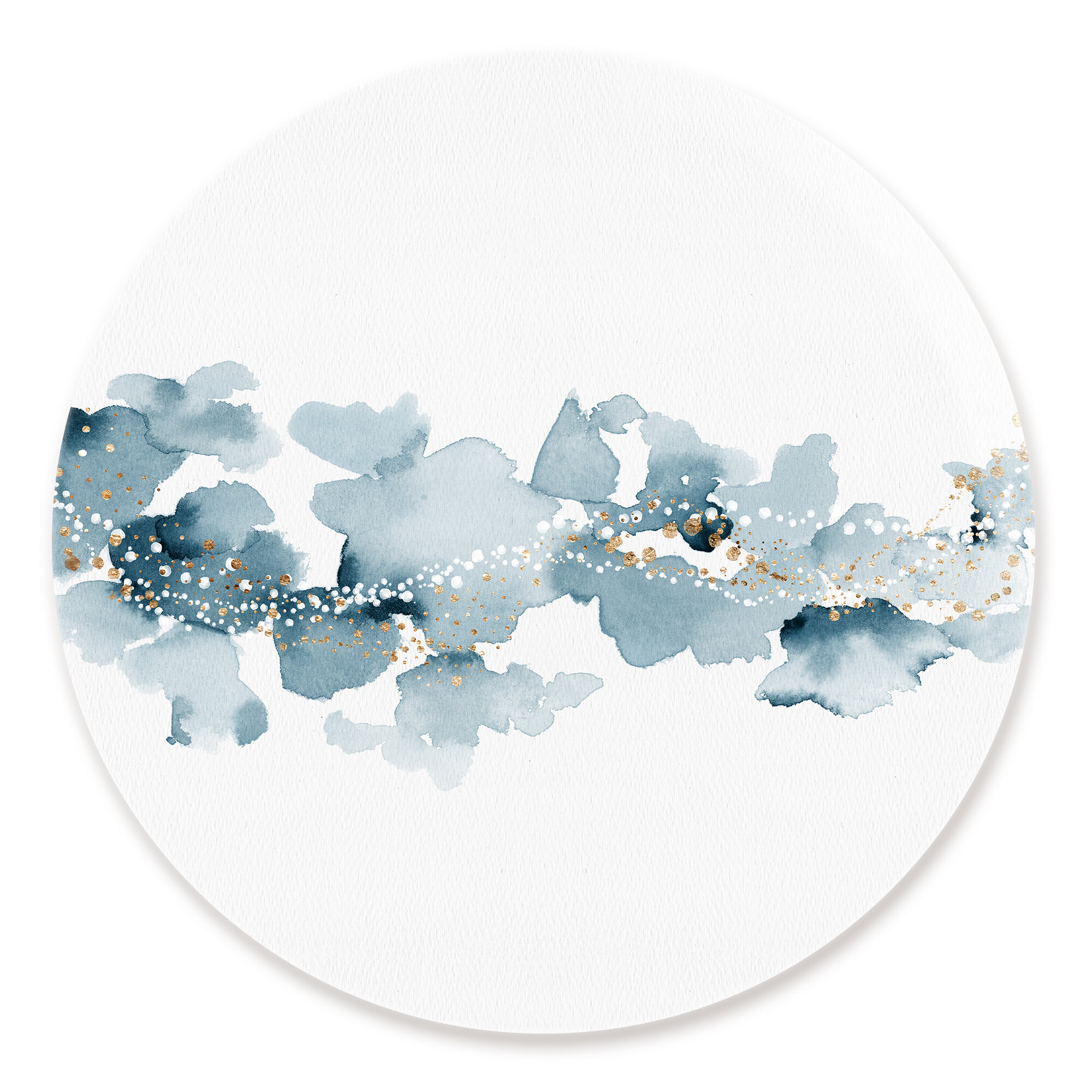 Bronx Blue Bedroom Project: Ivy Bronx 'Blue Cloud Sky' Watercolor Painting Print