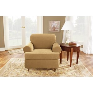 Stretch Pique T-Cushion Armchair Slipcover by Sure Fit