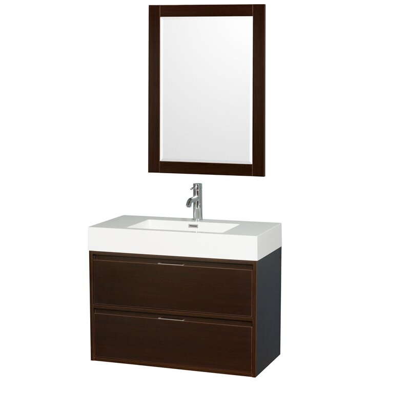 modern espresso in vessel bathroom double with and shipping inch sink sinks vanities free single vanity