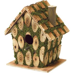 Mossy Wood 8 in x 5 in x 7.5 in Birdhouse