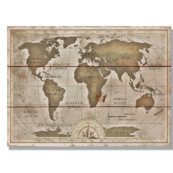 Daydream hq old world map graphic art on wood wayfair gumiabroncs Choice Image