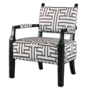 Terica Geometric Accent Armchair by Uttermost